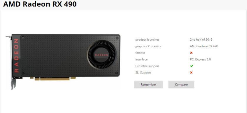 AMD Radeon RX 490 Retail