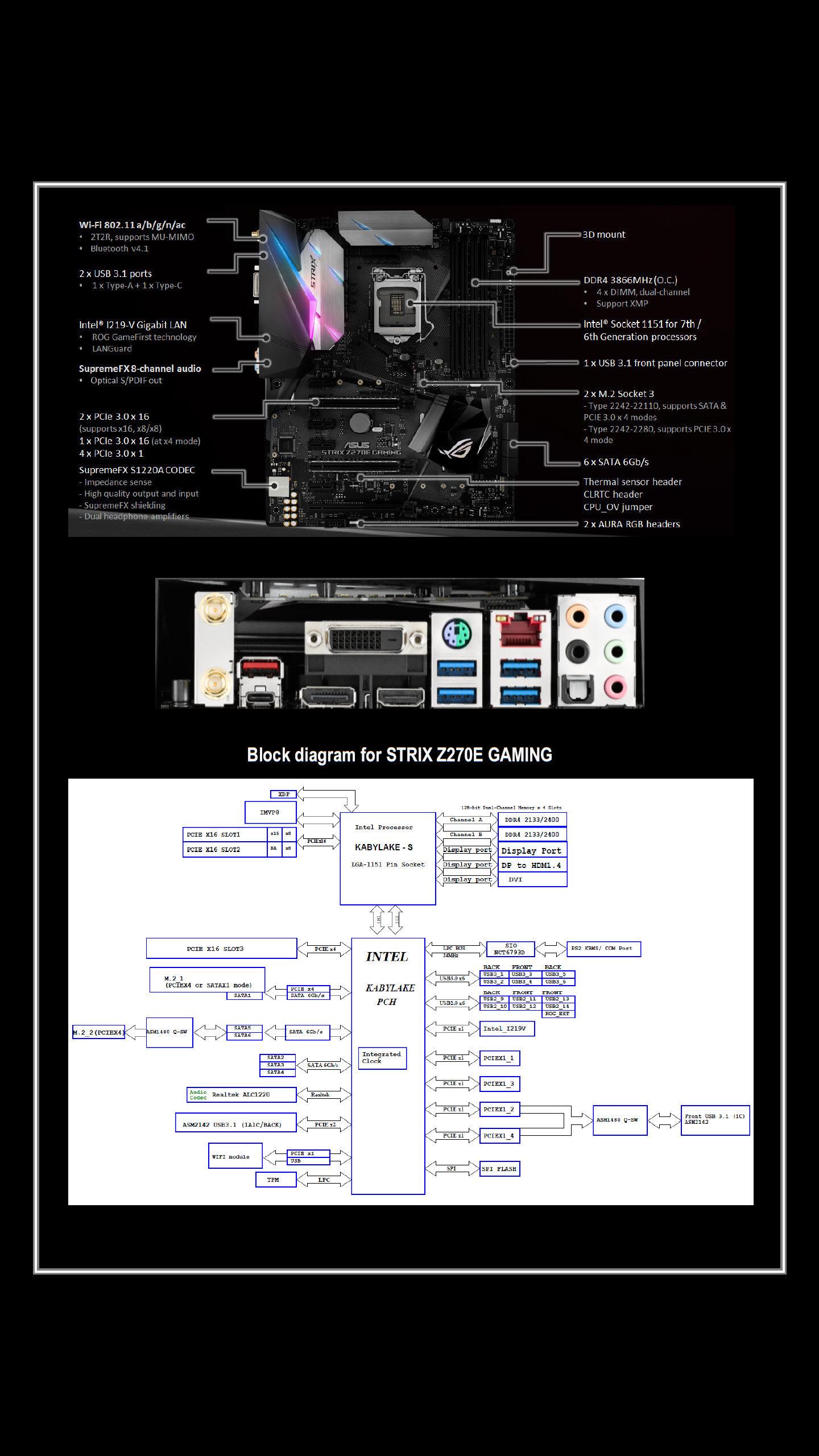 ASUS STRIX Z270E Gaming Z270 LGA 1151 Motherboard Review