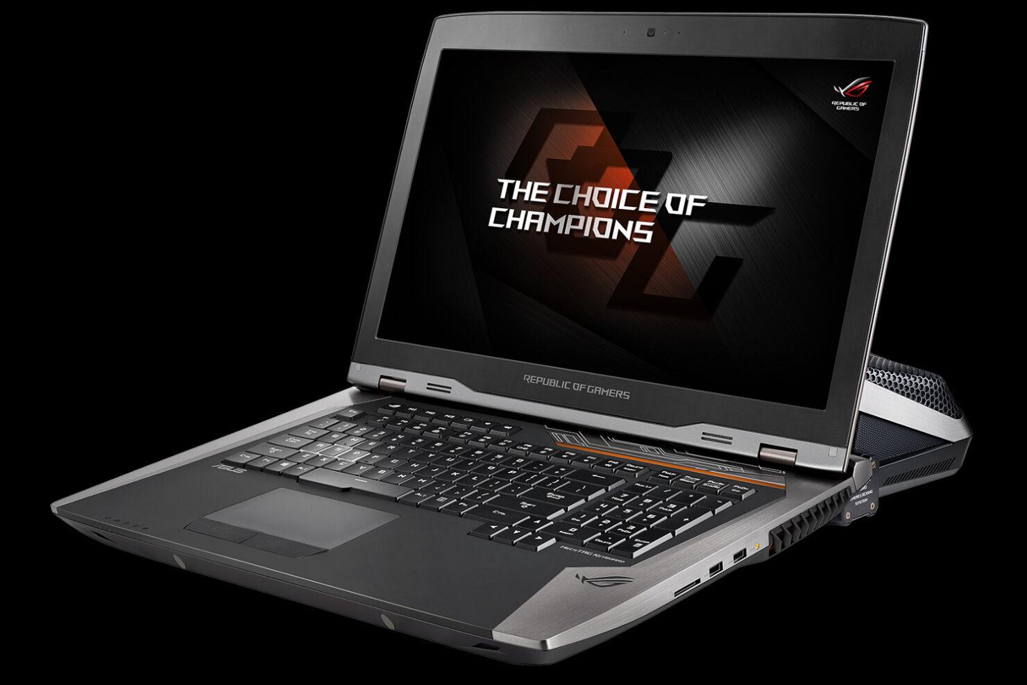 ASUS GTX 1080 thinnest laptop CES 2017