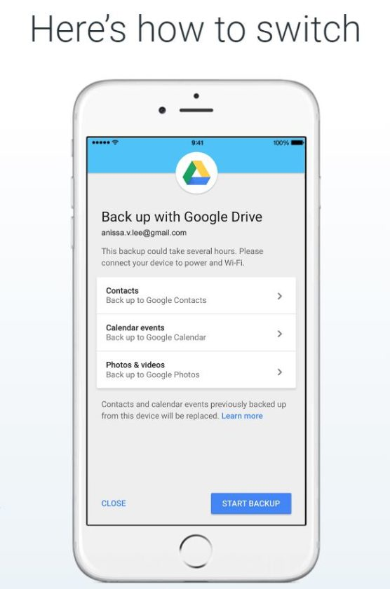 google drive for iphone makes it easier to switch from an iphone to android 14215