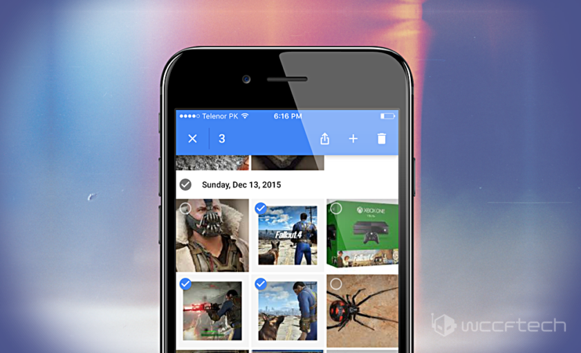 Google Photos Select Photos