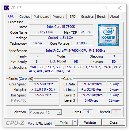 Intel Core i5-7600K_Eteknix_OC_CPUz