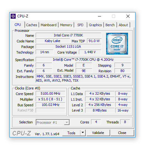 Intel Core i7-7700K_Eteknix_OC_CPUz