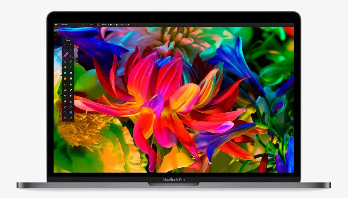 MacBook Pro default retina display