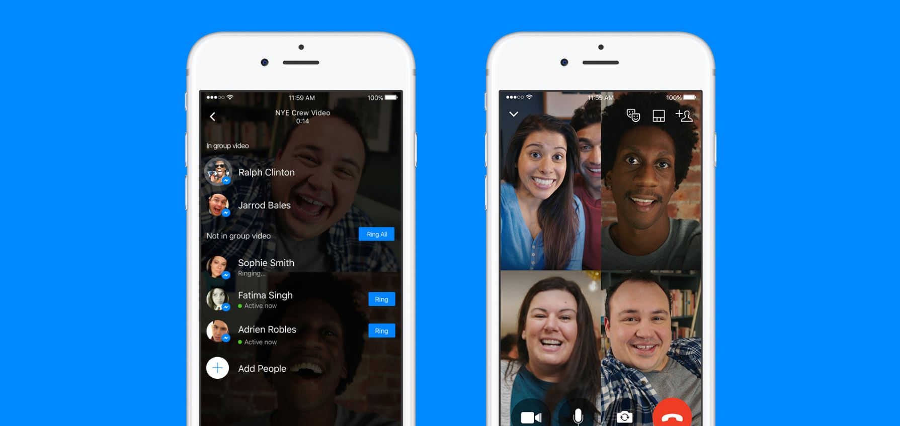 Messenger Now Supports Group Video Chat, Selfie Masks & More