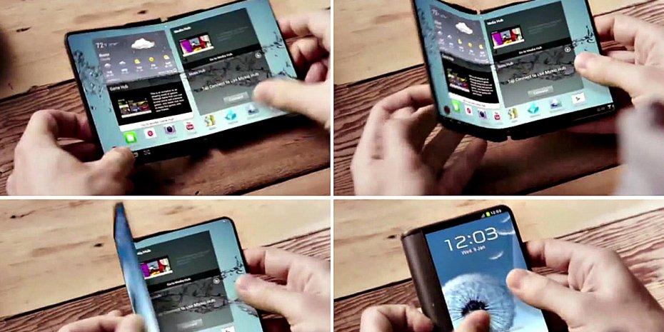 Samsung foldable display smartphones