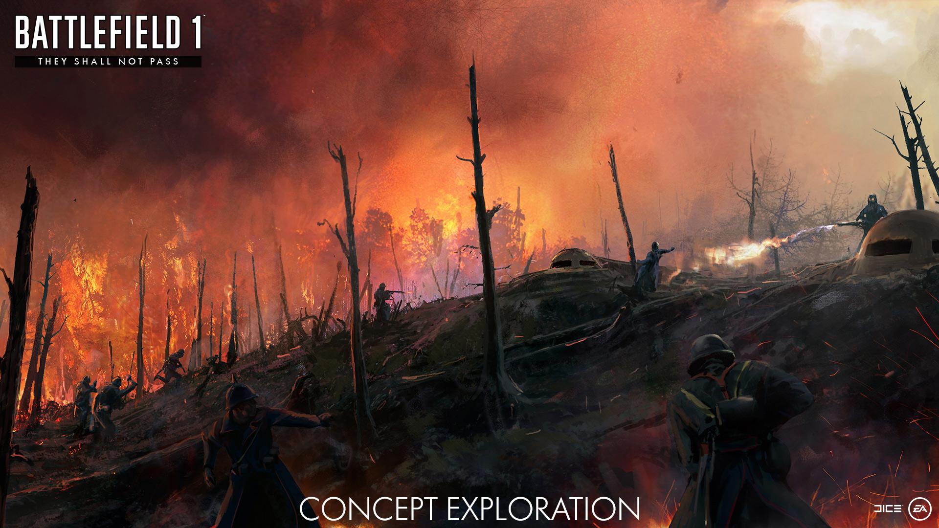 First battlefield 1 expansion they shall not pass gets - Battlefield v concept art wallpaper ...