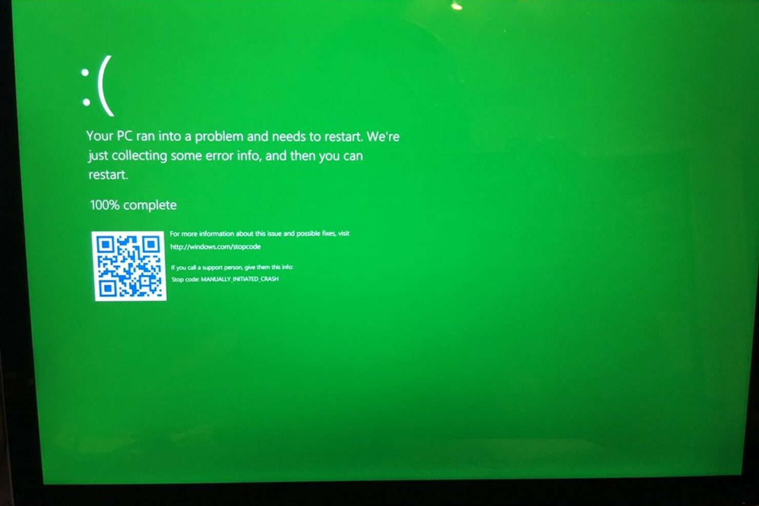 BSOD turns into GSOD