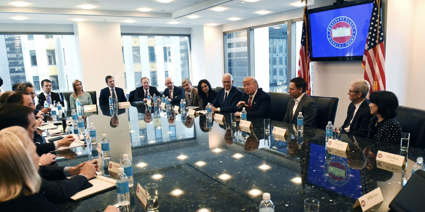 Trump Tower tech meeting immigration ban