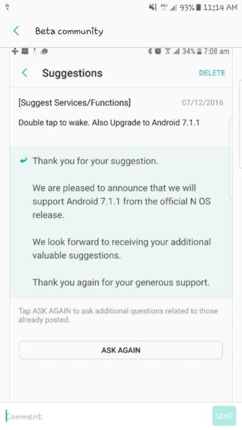 Samsung Android 7 Nougat