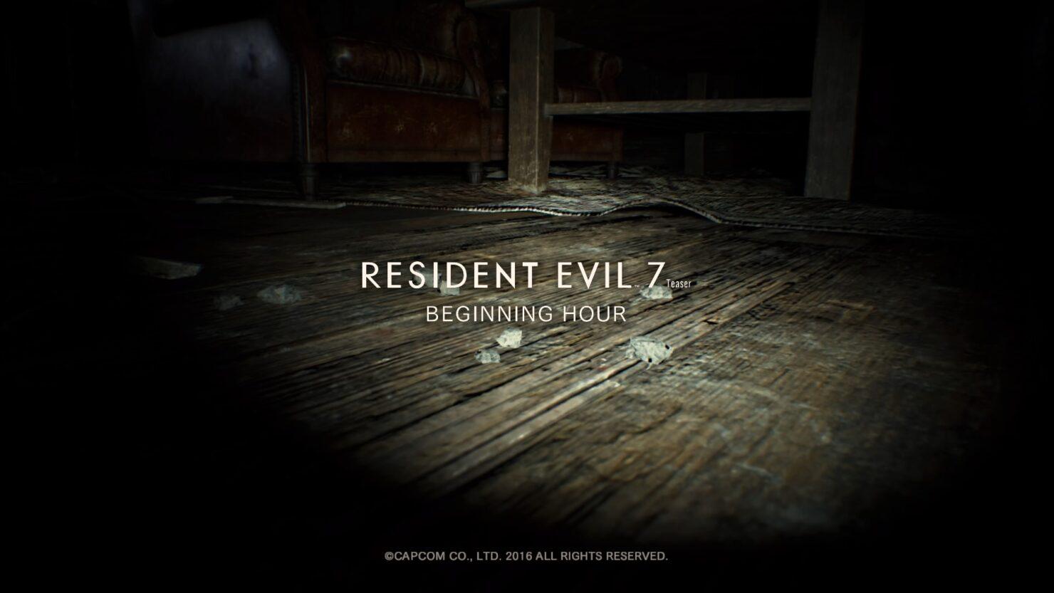 resident evil 7 demo teaser beginning hour xbox one