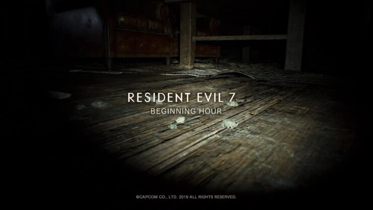 resident evil 7 demo teaser beginning hour xbox one
