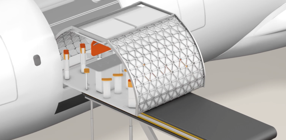 Airbus transpose concept allows for easy, customizable interiors in aircrafts for more comfort