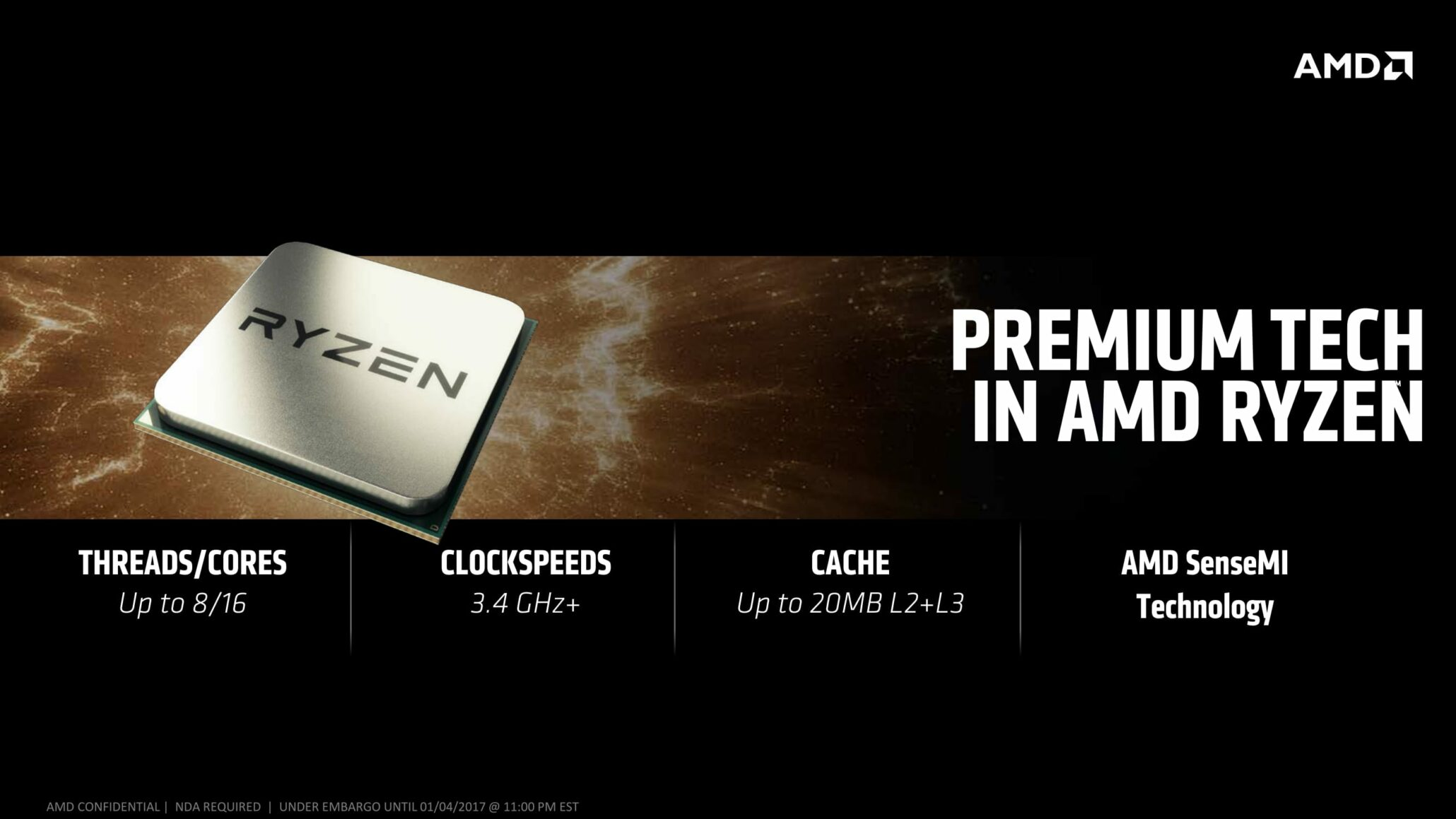 AMD Ryzen Processors May Not Include 6 Core Variants, Up To $700 US