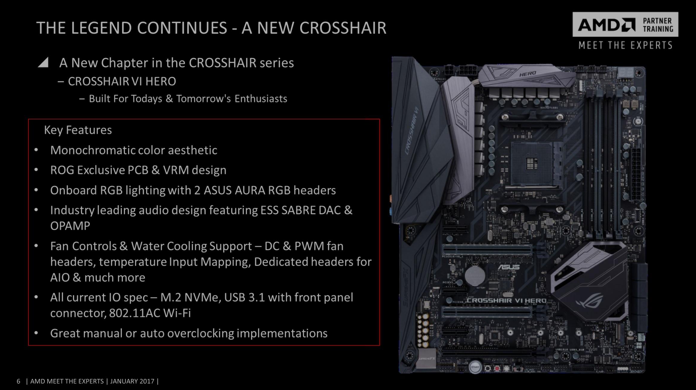 ASUS ROG Crosshair VI Code Ryzen AM4 X370