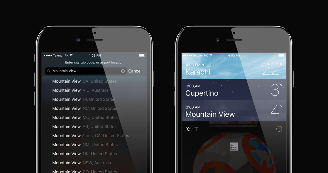 iOS Weather App: Add / Remove Locations, Change Units & View Details