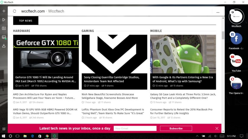 Opera Neon Visions Your Web Browser As A Mini Desktop
