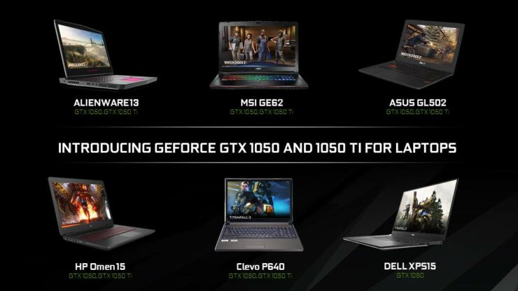 NVIDIA GTX 1050 GTX 1050 Ti for laptops