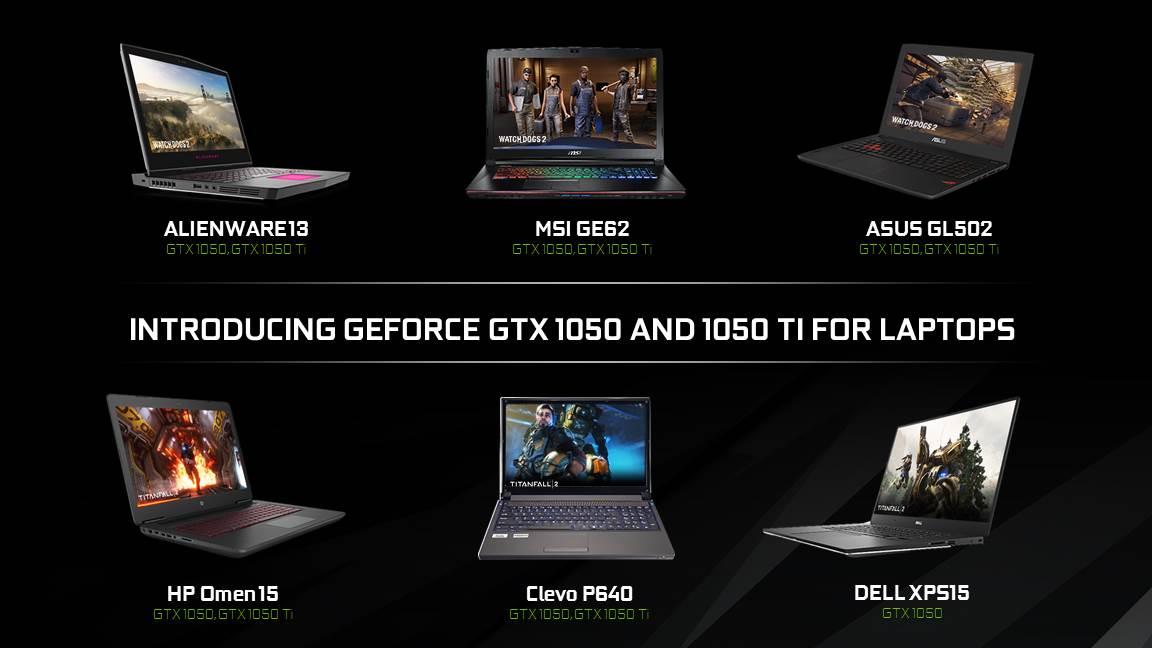 NVIDIA GTX 1050 GTX 1050 Ti for laptops