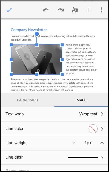 Google Docs Image Editing
