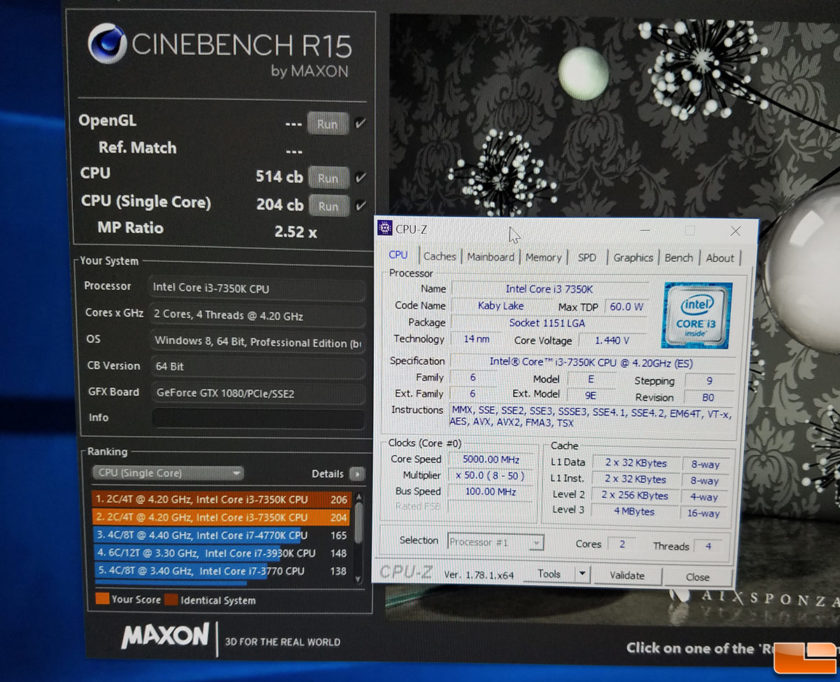 Intel Core i3-7350K_5GHz_Cinebench R15