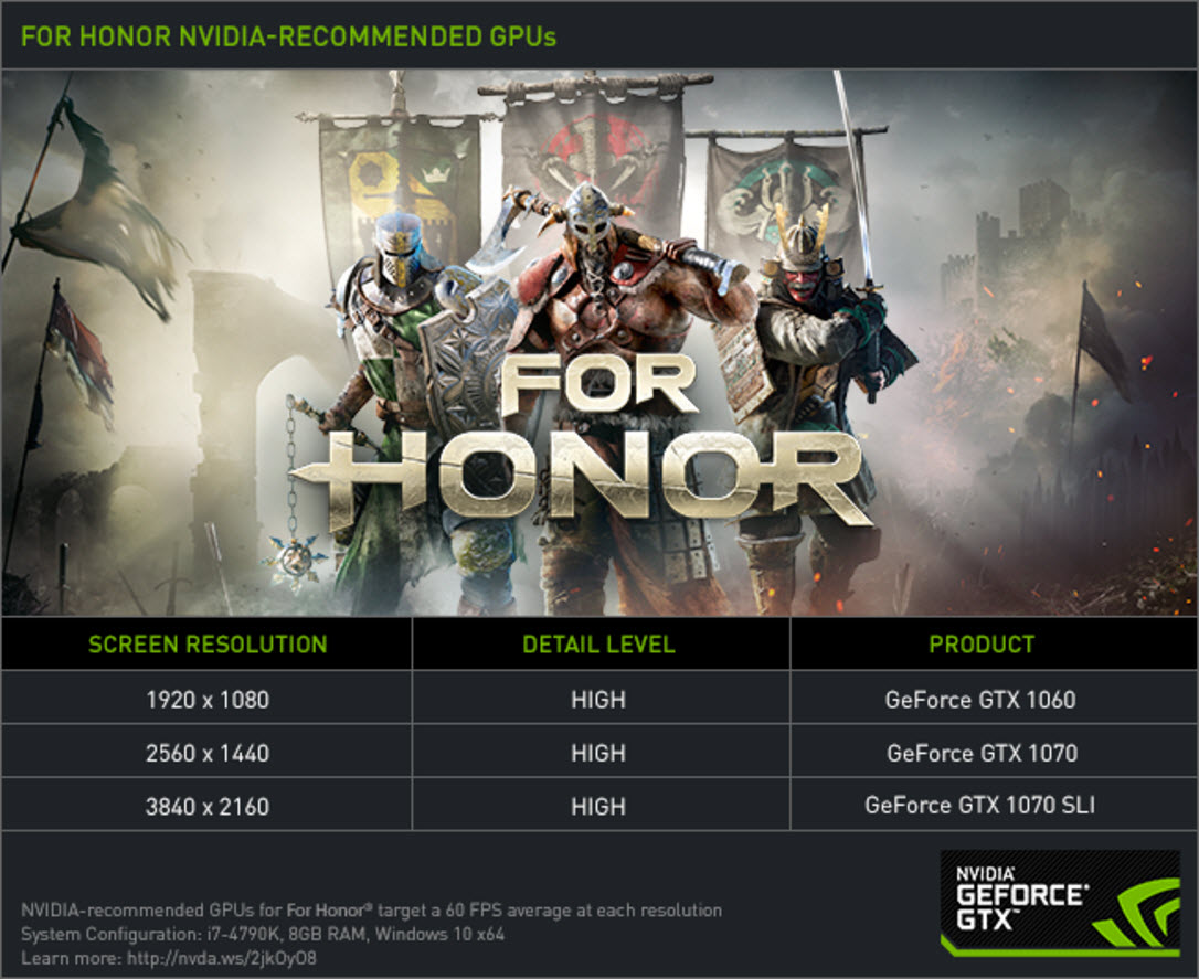 NVIDIA GeForce Bundle For 2017 Adds For Honor and Ghost Recon Wildlands