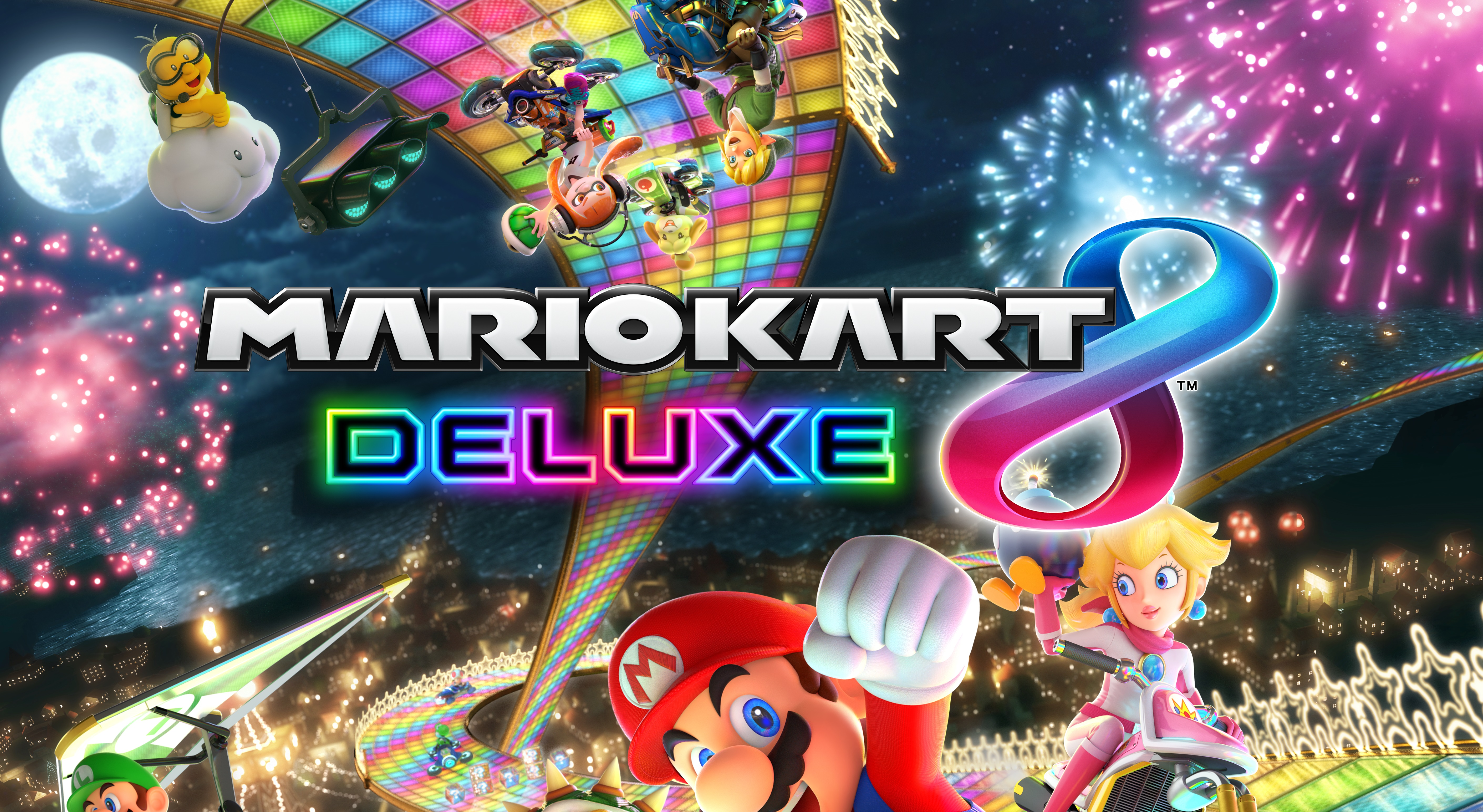 mario kart 8 deluxe releases april 28 runs at 1080p docked features new modes tracks characters