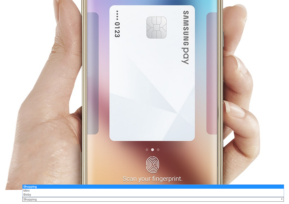 Samsung Pay with Bixby