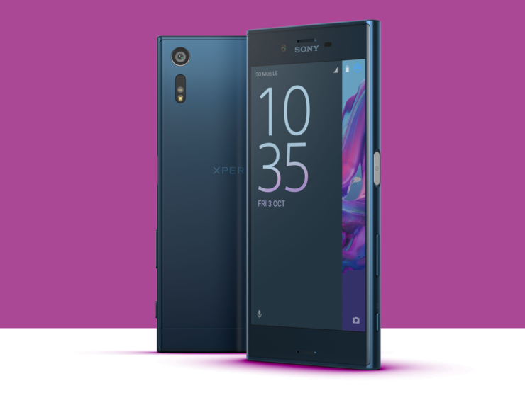 Sony smartphones showcasing MWC 2017