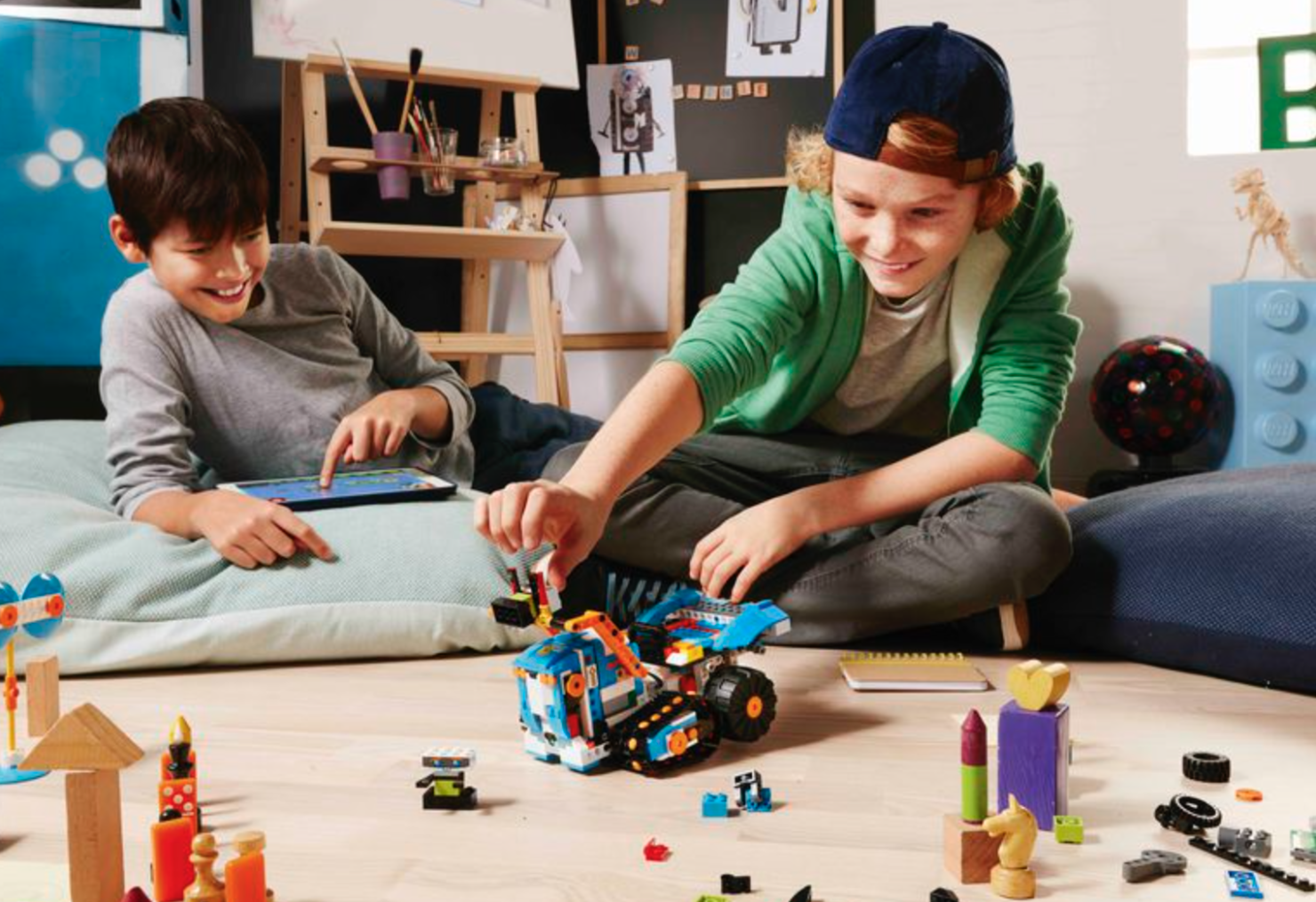 Lego Boost will turn your Lego toys to motorized robots.