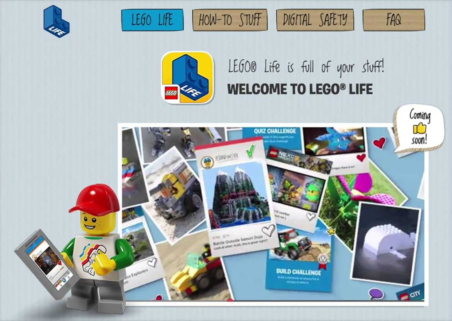 Lego has launched a safe social networking site for children to share their Lego creations