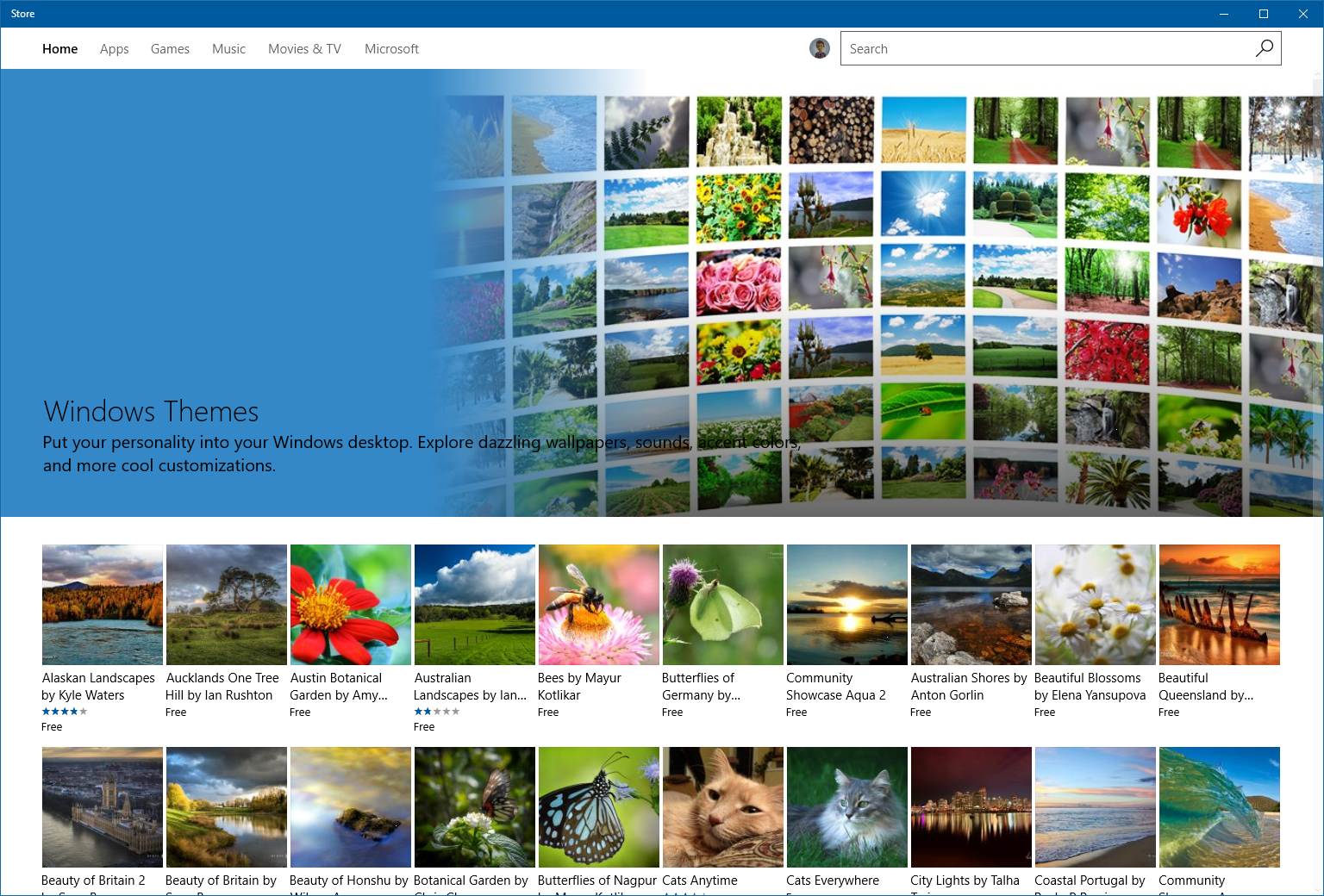 windows 10 preview 15007 app reset downloadable themes more