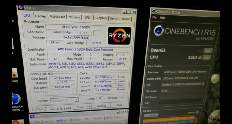 AMD Ryzen 7 1800X Achieves CPU World Record in Cinebench R15