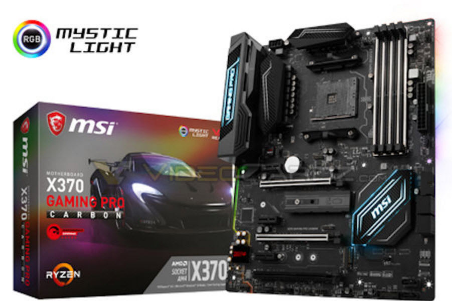 MSI X370 Gaming Pro Carbon Motherboard box. (Via Videocardz)