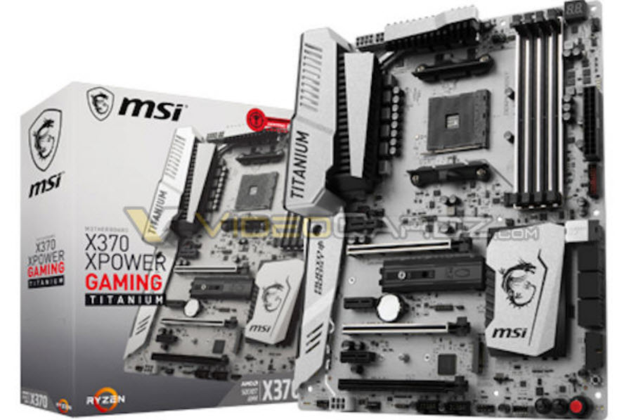 MSI X370 XPOWER Gaming Titanium Motherboard box for AMD Ryzen (Via Videocardz)