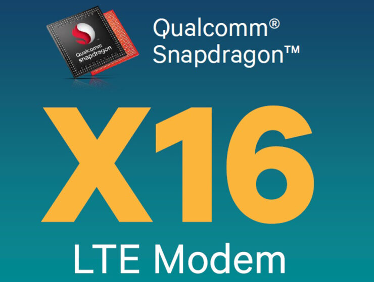 Qualcomm X16 LTE 1Gbps speed cross