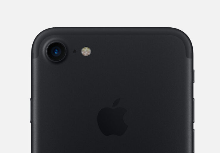 iPhone 7 matte black chipped