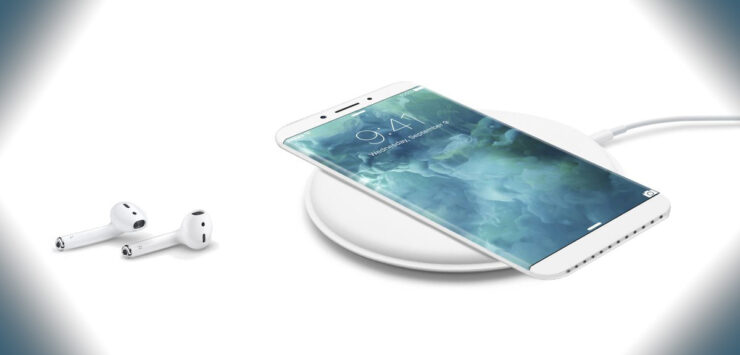 Apple 5 groups iPhone 8 wireless charging
