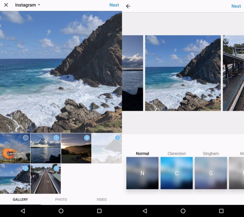 Instagram is testing multiple photo sharing on its latest Android beta version of its app.
