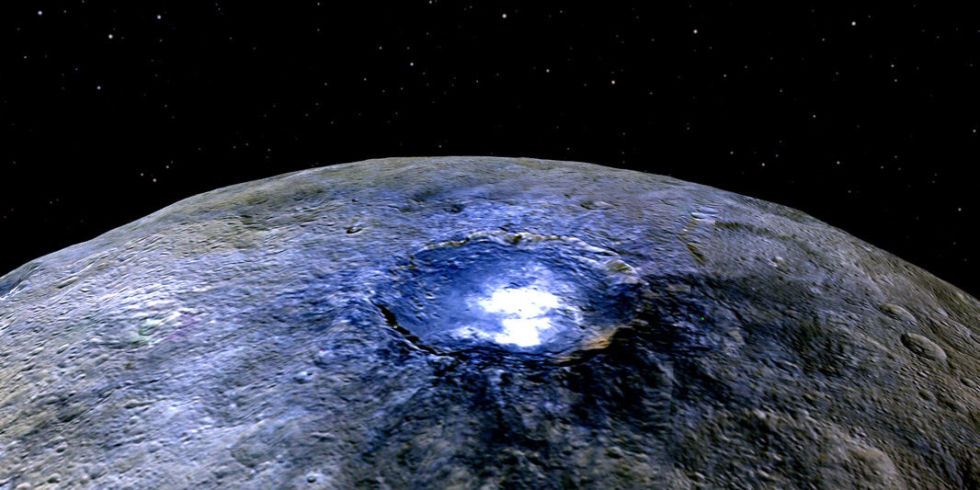 Organic materials spotted on Ceres by NASA's Dawn probe.