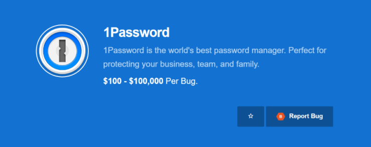 1Password bug bounty
