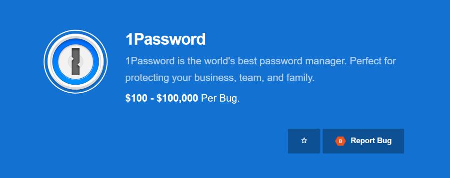 1Password bug bounty