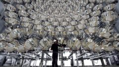 German scientists build world's largest artificial sun to produce hydrogen fuel.