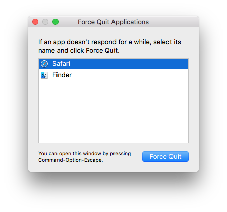 force quit an unresponsive mac