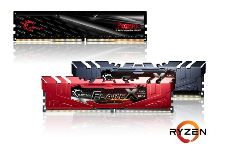 GSKILL Flare X Series and FORTIS Series DDR4 memory
