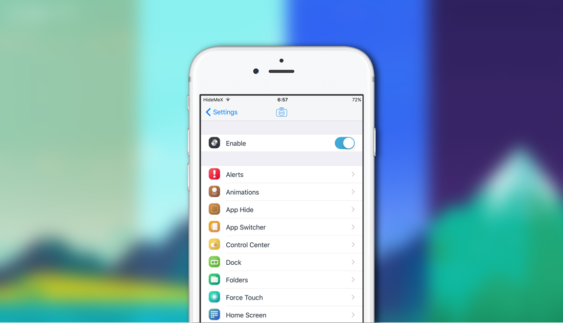 HideMeX iOS Customizing Tweak Updated for iOS 10 2 - Download it Today