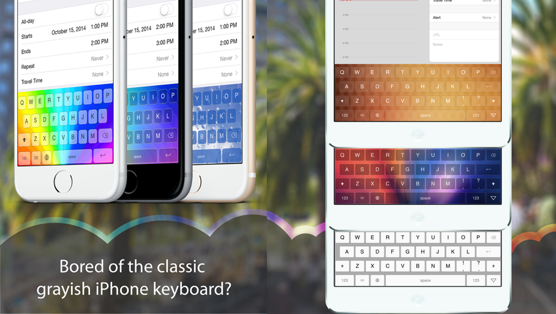 This Awesome Customizable Ios Keyboard App Has Gone Free 0 99 Value
