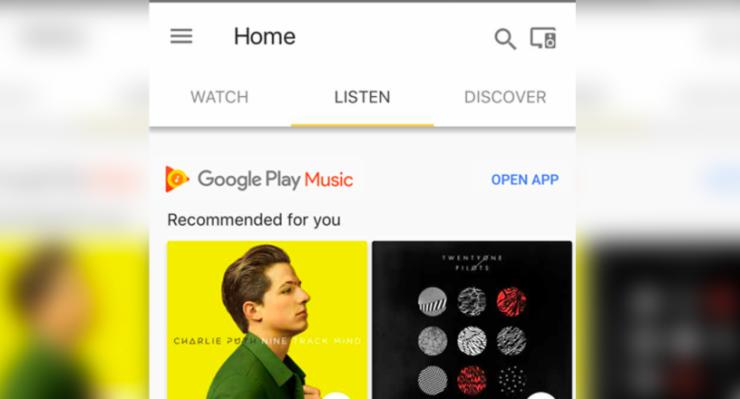 Home App Listen Tab