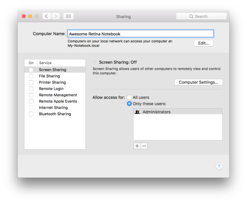 how to change the computer name for airdrop on mac
