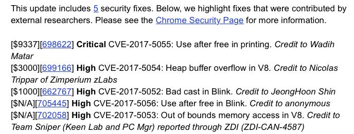Chrome 57 stable